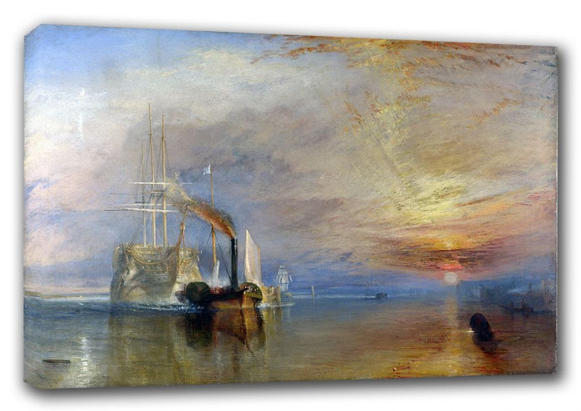 Turner, William: The Fighting Temeraire Tugged to Her Last Berth to be Broken Up. War/Historical Fine Art Canvas. Sizes: A3/A2/A1 (00229)